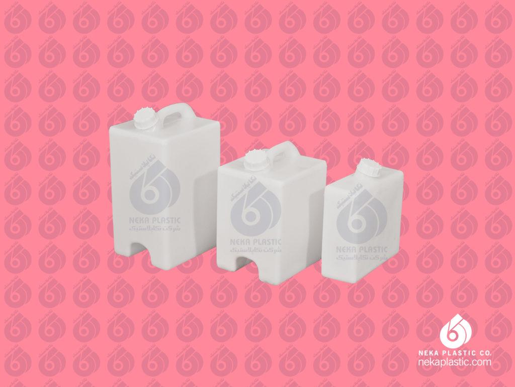 دبه های ذخیره پلی اتیلنی نکاپلاستیک از 10 تا 30 لیتر میباشند.
